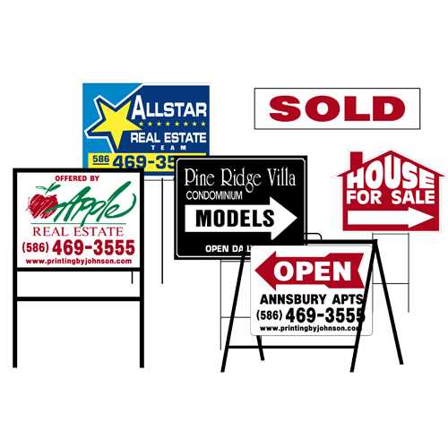 Real Estate Signs : Yard sign printing « by johnson mt clemens